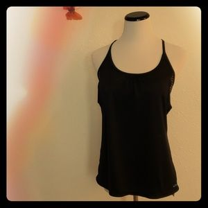 Champion Women's Black Tank Top With Bra Size L